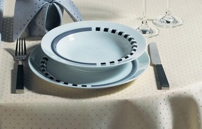 Tischdecke Pünktchen mit Anti- Fleck- Ausrüstung